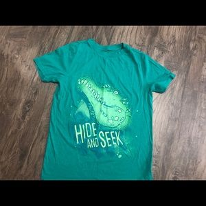 Cat and Jack green shirt with alligator
